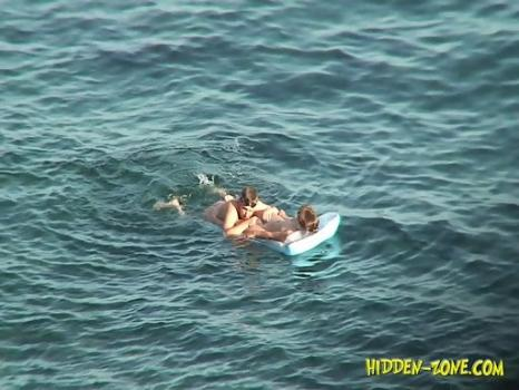 Hidden-Zone.com-Nu1227# A couple swam a little and moved to the shore, where she put her naked body under the sun