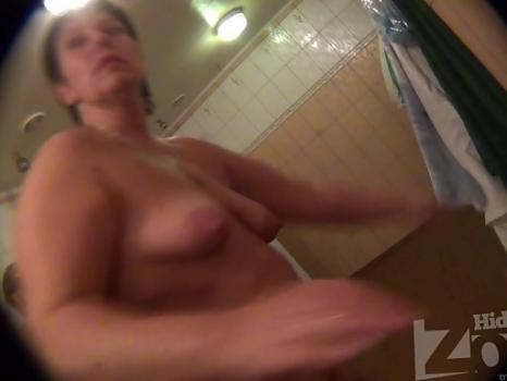 Hidden-Zone.com-Sh931# Blonde with big tits and hairy pussy wiped off after a shower