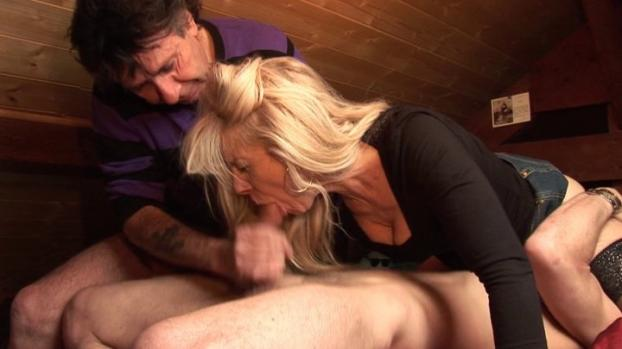 Lafranceapoil.com-Wife catches husband sucking cock, joins in!
