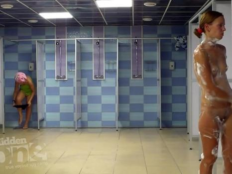 Sh1312# Tanned beauties take a shower after a workout. Our ca