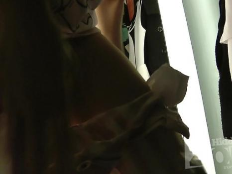 Sp1705# In the process of fitting a beauty remained completely naked. Her gorgeous ass in a nicely