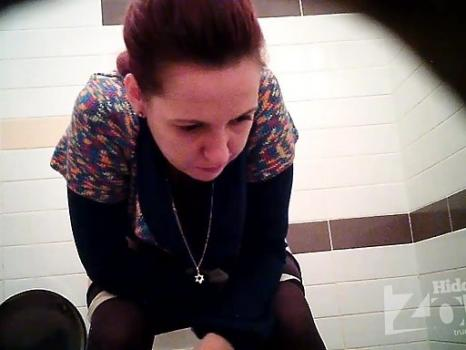 Wc1946# Girl in white panties and pantyhose pee standing up. Our girls toilets hidden cams filmed